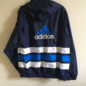 ADIDAS VINTAGE Blue Stripe Track Jacket